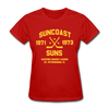 Suncoast Suns Dated Women's T-Shirt (EHL) - red