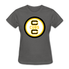 Cape Cod Cubs Logo Women's T-Shirt (EHL & NAHL) - charcoal