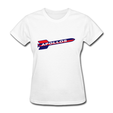 Houston Apollos Rocket Logo Women's T-Shirt (CHL) - white