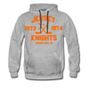 Jersey Knights Double Sided Premium Hoodie (WHA) - heather gray