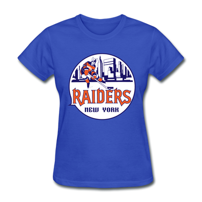 New York Raiders Logo Women's T-Shirt (WHA) - royal blue