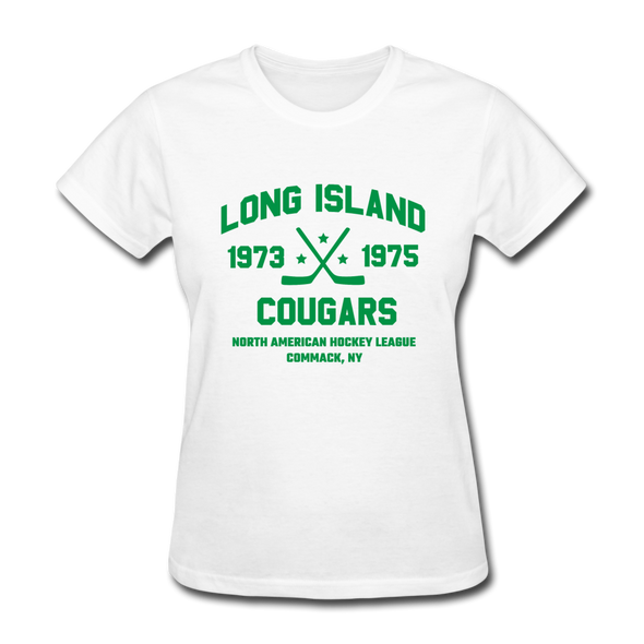 Long Island Cougars Dated Women's T-Shirt (NAHL) - white