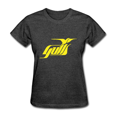 Hampton Gulls Yellow Logo Women's T-Shirt (SHL) - heather black