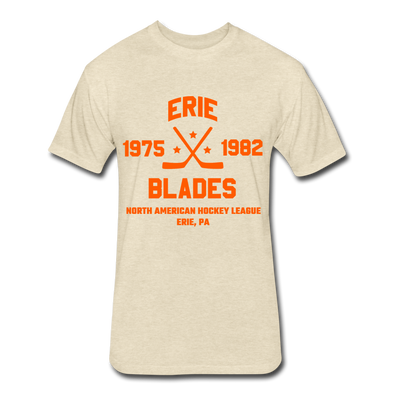 Erie Blades Dated T-Shirt (NAHL) - heather cream