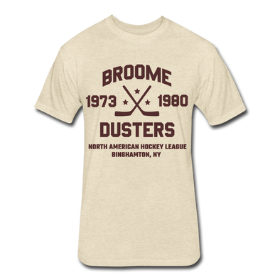 Broome County Dusters Dated T-Shirt (NAHL) - heather cream