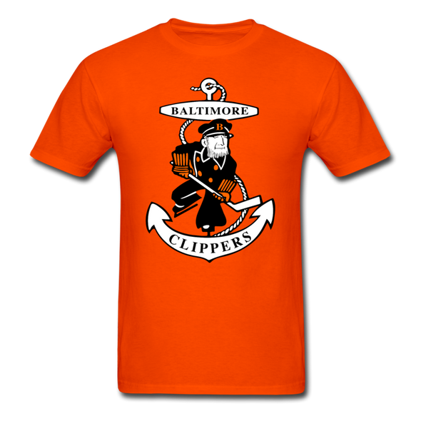 Baltimore Clippers Orange Logo T-Shirt (SHL) - orange