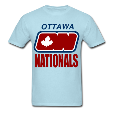 Ottawa Nationals Text Logo T-Shirt (WHA) - powder blue