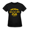 Michigan Stags Dated Women's T-Shirt (WHA) - black