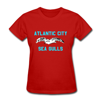 Atlantic City Sea Gulls Logo Women's T-Shirt (EHL) - red