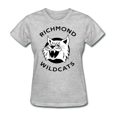 Richmond Wildcats Logo Women's T-Shirt (SHL) - heather gray