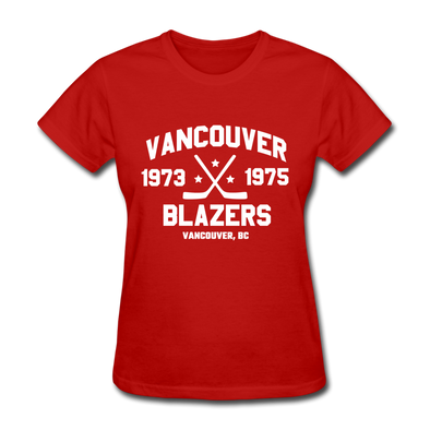 Vancouver Blazers Dated Women's T-Shirt (WHA) - red