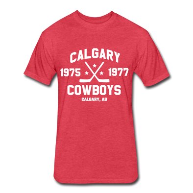 Calgary Cowboys Dated T-Shirt (WHA) - heather red