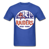 New York Raiders Logo T-Shirt (WHA) - royal blue