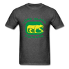 Long Island Cougars Distressed Logo T-Shirt (NAHL) - heather black