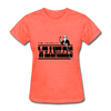 Amarillo Wranglers Black Logo Women's T-Shirt (CHL) - heather coral