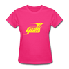 Hampton Gulls Yellow Logo Women's T-Shirt (SHL) - fuchsia