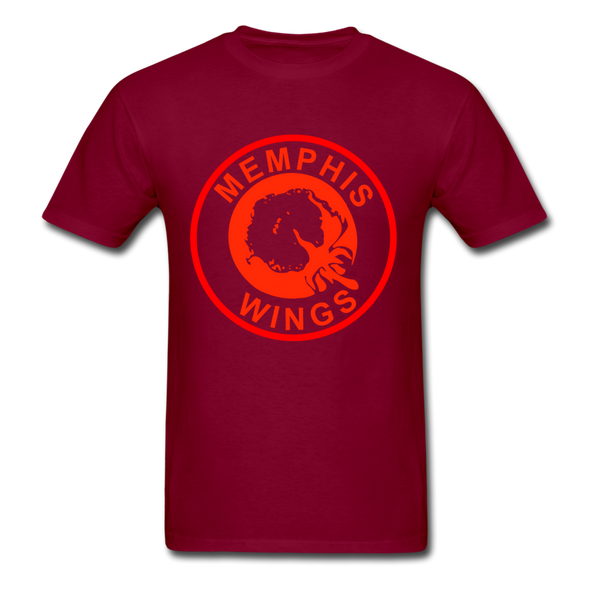 Memphis Wings Logo T-Shirt (CHL) - burgundy