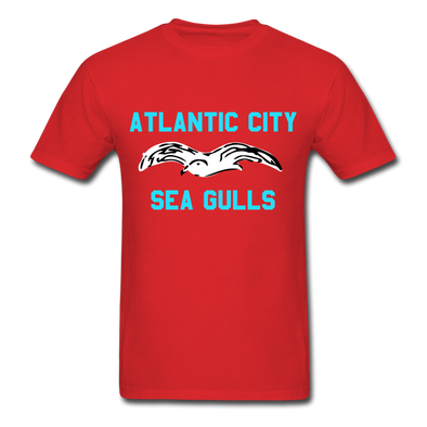 Atlantic City Sea Gulls Logo T-Shirt (EHL) - red
