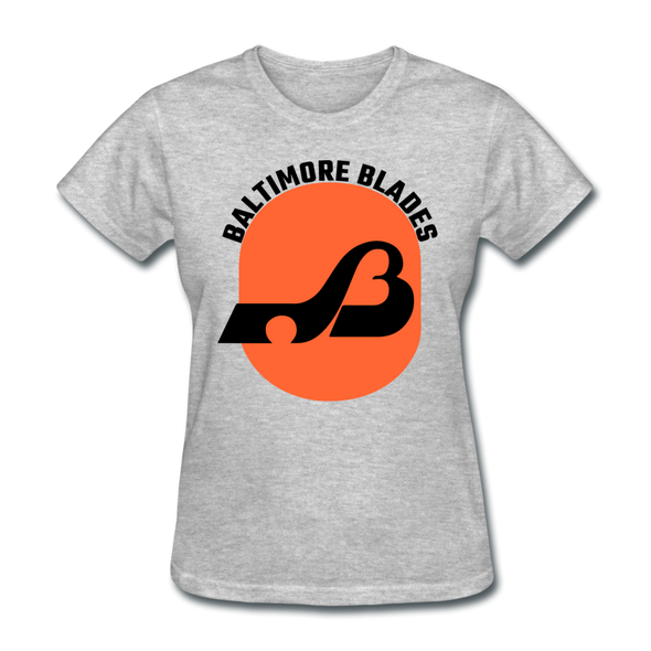 Baltimore Blades Text Logo Women's T-Shirt (WHA) - heather gray