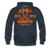 Jersey Knights Double Sided Premium Hoodie (WHA) - navy