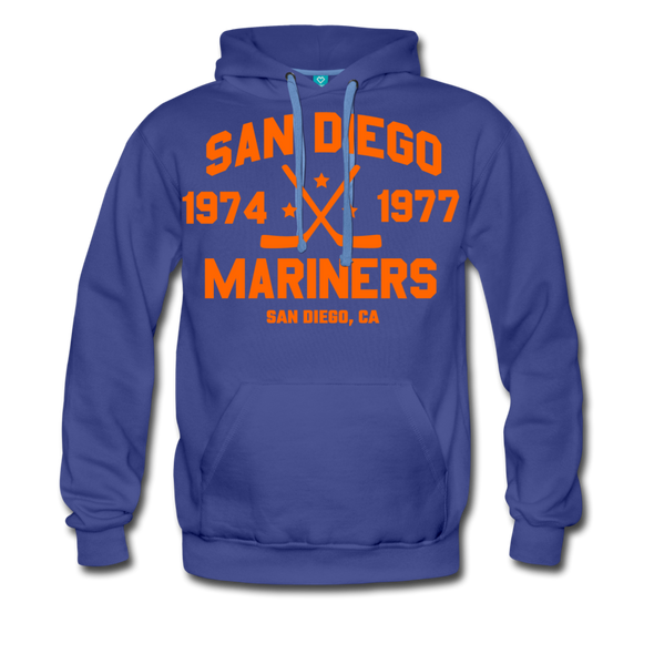San Diego Mariners Double Sided Premium Hoodie (WHA) - royalblue