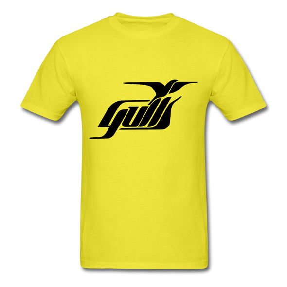 Hampton Gulls Black Logo T-Shirt (SHL) - yellow