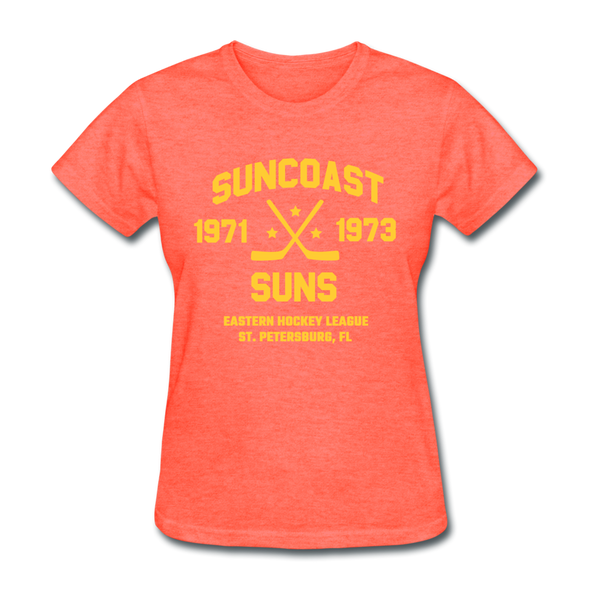 Suncoast Suns Dated Women's T-Shirt (EHL) - heather coral