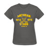 Michigan Stags Dated Women's T-Shirt (WHA) - charcoal