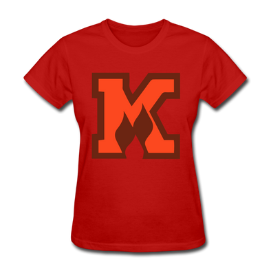 Omaha Knights K Logo Women's T-Shirt - red