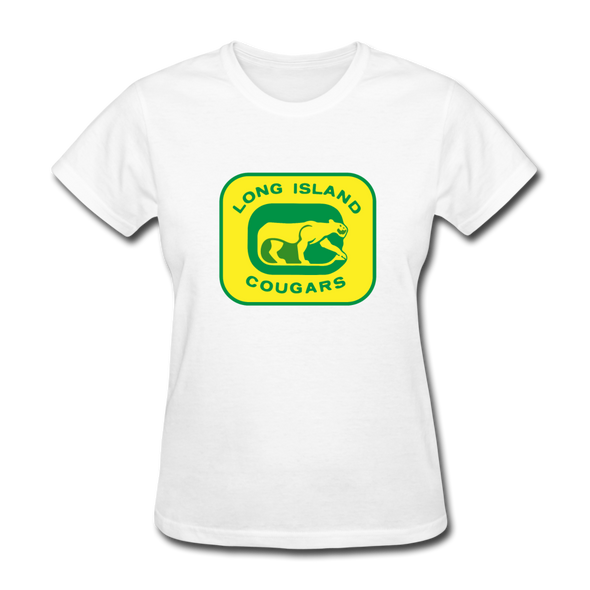 Long Island Cougars Women's T-Shirt (NAHL) - white