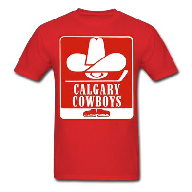 Calgary Cowboys Logo T-Shirt (WHA) - red