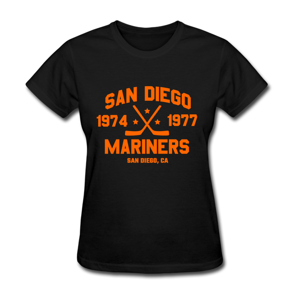 San Diego Mariners Dated Women's T-Shirt (WHA) - black