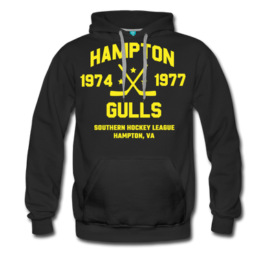 Hampton Gulls Double Sided Premium Hoodie (SHL) - black