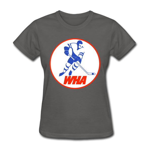 World Hockey Association Logo Women's T-Shirt (WHA) - charcoal