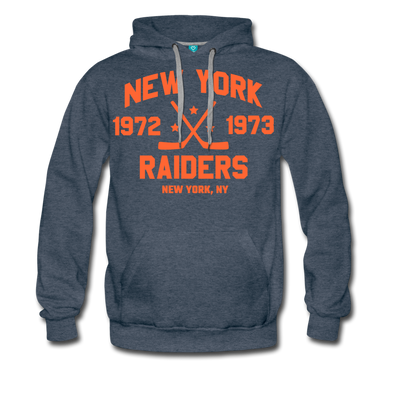 New York Raiders Double Sided Premium Hoodie (WHA) - heather denim