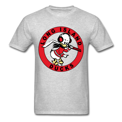 Long Island Ducks 1960s Logo T-Shirt (EHL) - heather gray