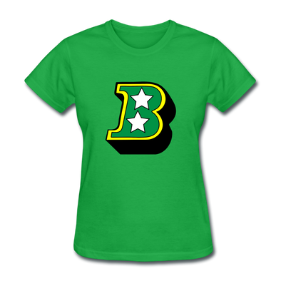 Birmingham South Stars B Logo Women's T-Shirt (CHL) - bright green