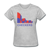 Indianapolis Checkers Logo Women's T-Shirt (CHL) - heather gray