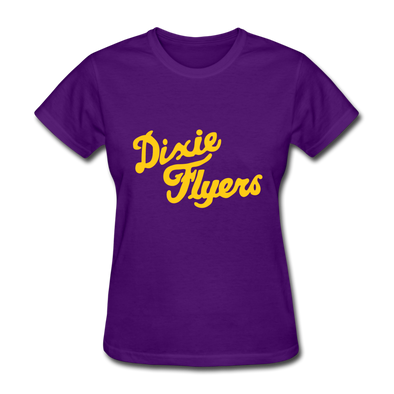 Nashville Dixie Flyers Logo Women's T-Shirt (EHL) - purple