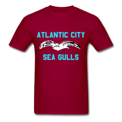 Atlantic City Sea Gulls Logo T-Shirt (EHL) - dark red