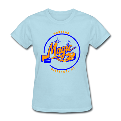Montana Magic Logo Women's T-Shirt (CHL) - powder blue