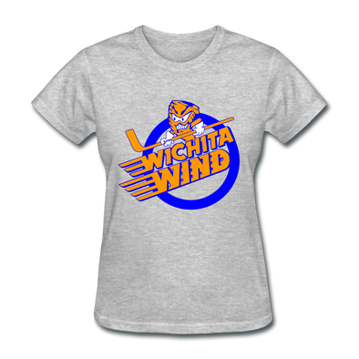Wichita Wind Logo Women's T-Shirt (CHL) - heather gray