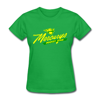Toledo Mercurys Logo Women's T-Shirt - bright green