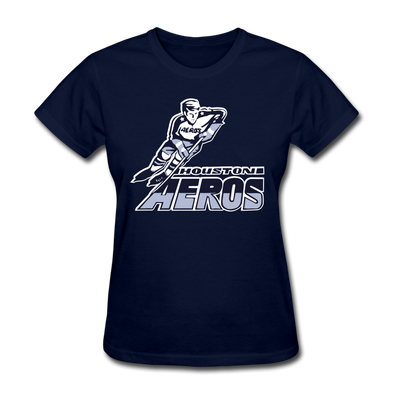 Houston Aeros Logo Women's T-Shirt - navy