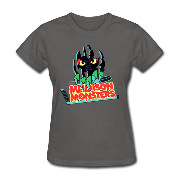 Madison Monsters Logo Women's T-Shirt - charcoal