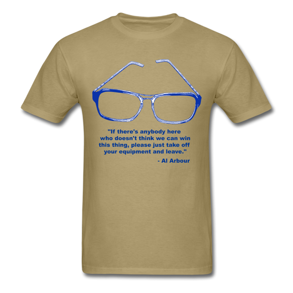 Lighthouse Hockey Glasses T-Shirt - khaki