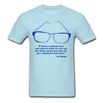 Lighthouse Hockey Glasses T-Shirt - powder blue