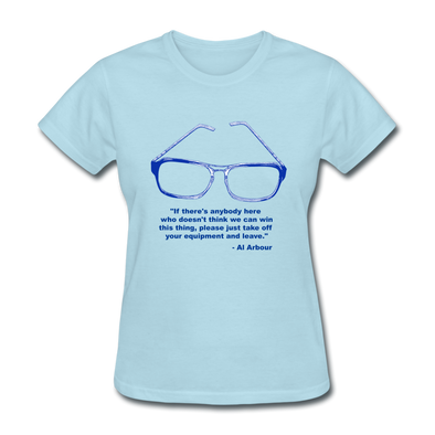 Lighthouse Hockey Glasses Women's T-Shirt - powder blue