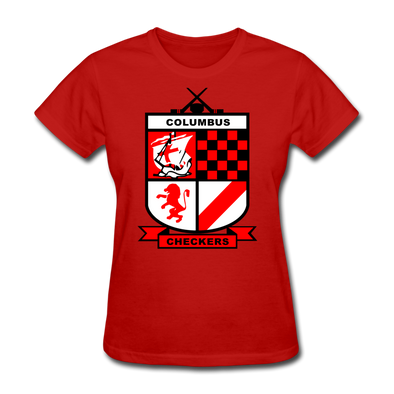 Columbus Checkers Logo Women's T-Shirt - red