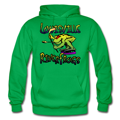 Louisville RiverFrogs Double Sided Hoodie - kelly green